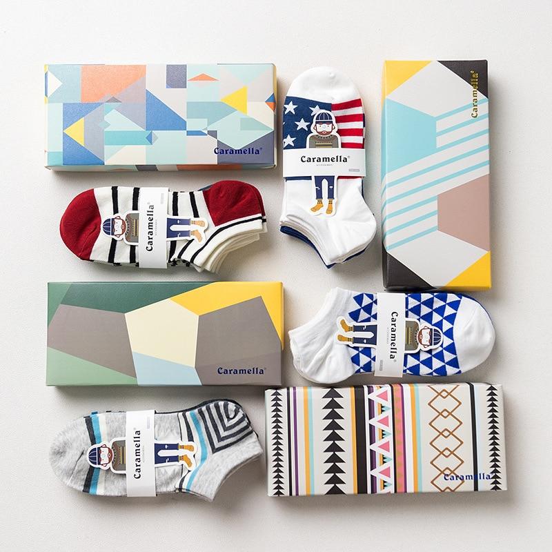 Мужские комбинированные летние мужские носки, невидимые носки, модные мужские спортивные хлопковые носки-лодочки