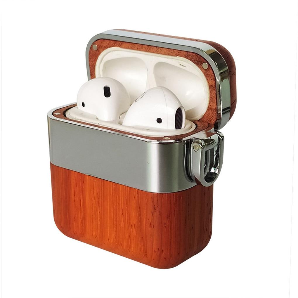 Reemplazo para funda de AirPods, cubierta de madera Wwireless para auriculares, organizador de auriculares, caja protectora