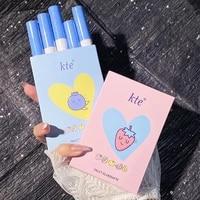 5pcsset cigarette tube lip gloss set for lip makeup long lasting velvet matte tint lipsticks waterproof non stick cup blue pink