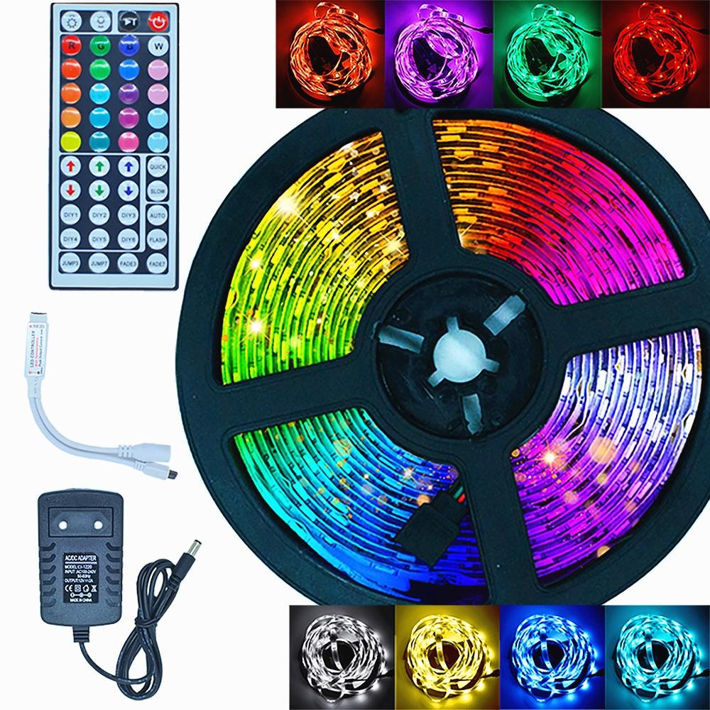 Luces LED color cambiante tira impermeable 5M 10M 15 20M WiFi tira de luz LED RGB SMD 5050 2835 lazo cinta Flexible diodo