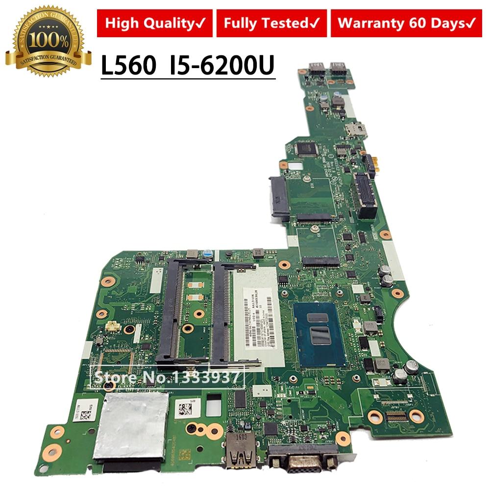 AILL1/L2 AILL3 LA-C421P L560 laptop motherboard mainboard Para Lenovo Thinkpad i5-6200U SR2EY