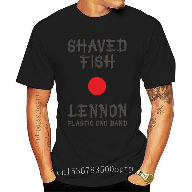 New JOHN LENNON SHAVED FISH COLLECTIBLE LENNON SHIRT 2 SIDED PRINT -
