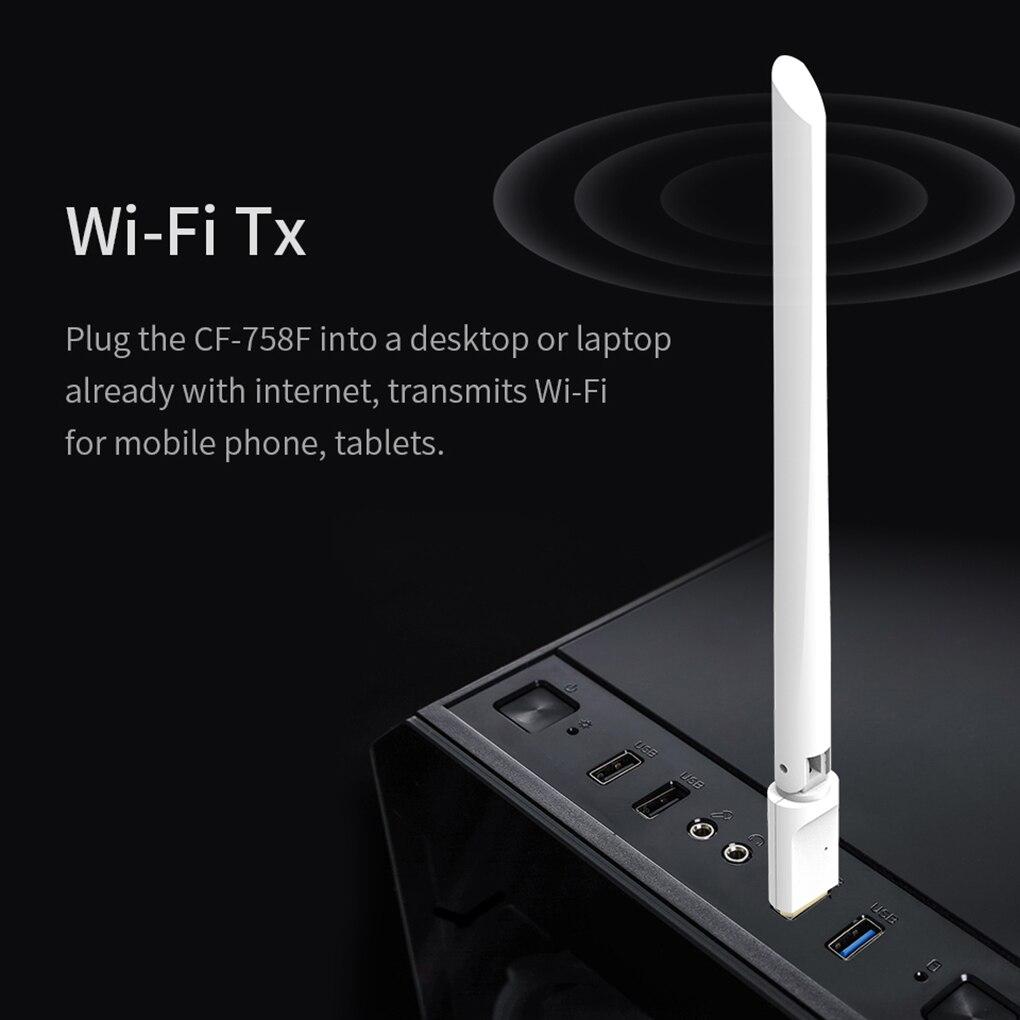 Comfast-Adaptador WiFi inalámbrico, controlador gratuito, antena 6dBI, tarjeta de red inalámbrica de 150Mbps, receptor Wifi USB