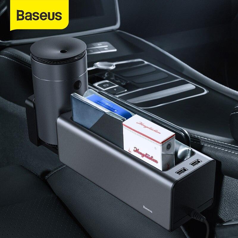 Baseus-organizador de coche, caja de almacenamiento de huecos de asiento automático, portavasos,...