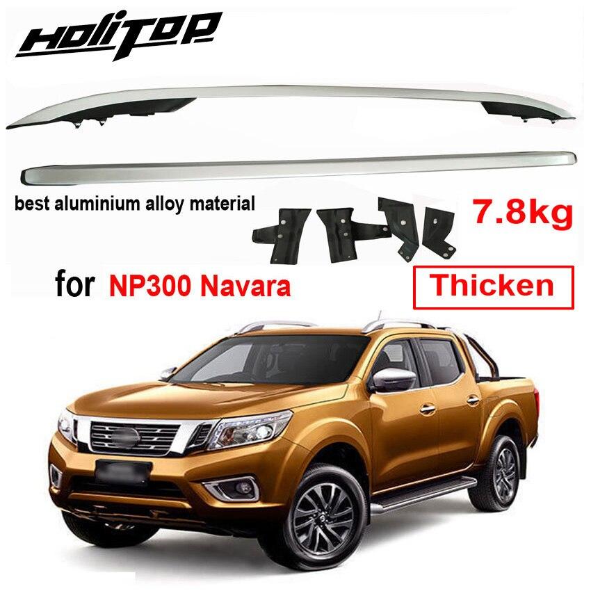 Barra de riel de techo para Nissan NP300 Navara 2016-2020, aleación de aluminio grueso, suministrada por la gran fábrica ISO9001, muy fiable
