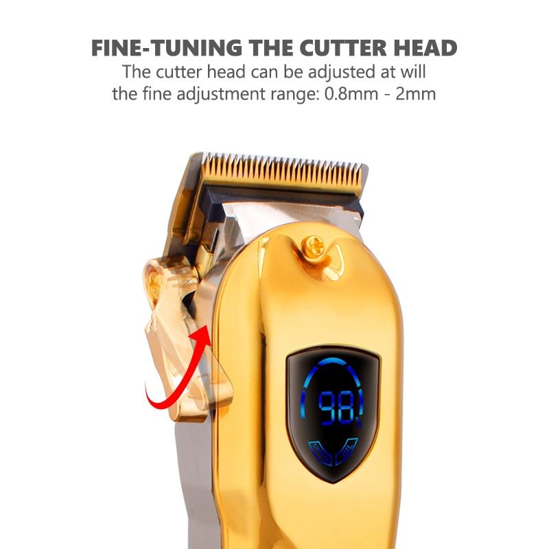 Hair Clipper Rechargeable Blade Outliner Electric Hair Trimmer Hair Hair Shaving Beard Shaver Trimer Men Barber Cutting Machine enlarge