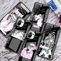 sad japanese anime aesthetic glass phone case for xiaomi redmi note 9s 8 9 8t 7 9c capa for mi 10t pro 9t 10 lite tempered cover