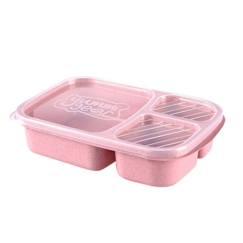 Portable wheat straw lunch box Practical and durable Multifunctional environmentally friendly Elegant Easy to clean
