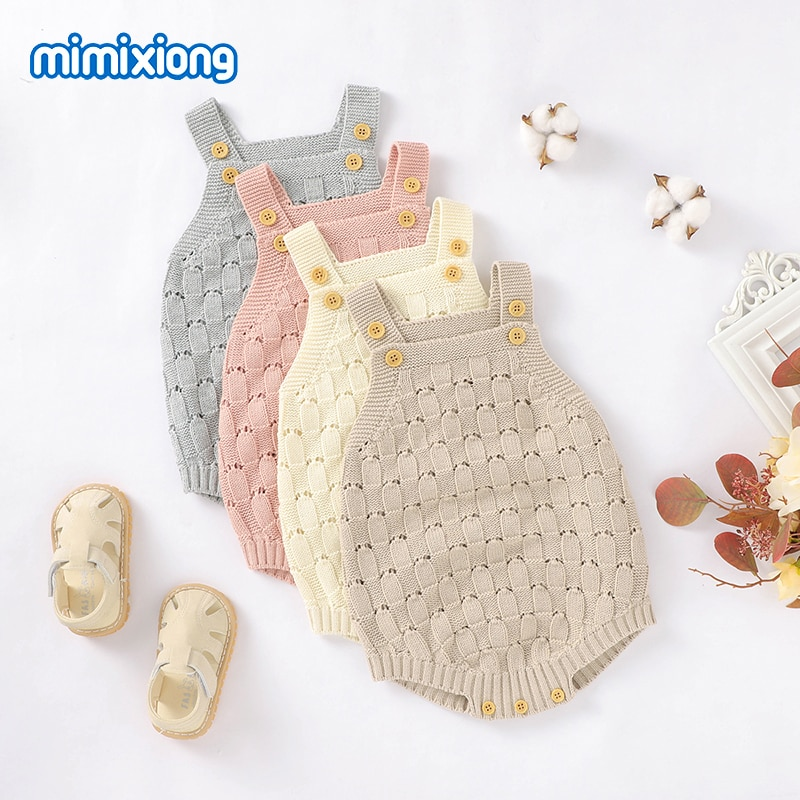 Baby Bodysuits Clothes Fashion Solid Knitted Newborn Bebes Body Suits Tops for Infant Boys Girls Jumpsuits Outfit One Piece Wear baby girl bodysuits winter warm newborn boys one piece jumpsuits cute rabbit knit long sleeve body suits with legs sunsuit 0 24m