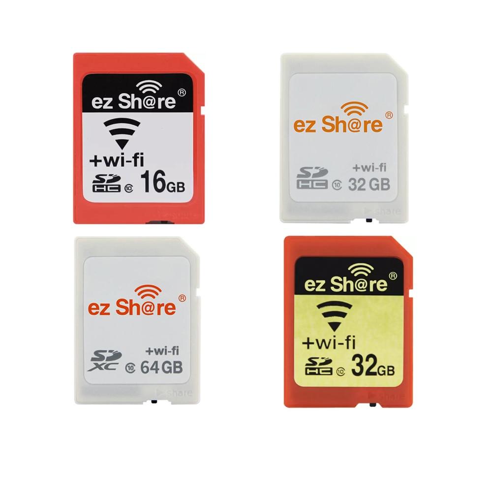 Ez حصة واي فاي بطاقة SD اللاسلكية مايكرو SD محول 16 جيجابايت 32 جيجابايت 64 جيجابايت كاميرا بطاقة الذاكرة دعم 16 جيجابايت 32 جيجابايت TF مايكرو قارئ ال...