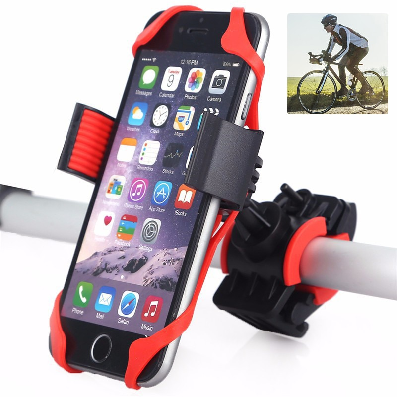 Universal Bicycle Phone Holder Motorcycle for iPhone X Xs Max Samsung Huawei Xiaomi Redmi Mobile Phone Stand Bike Anti-Slip