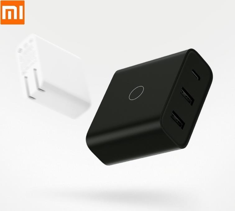 Cargador USB Xiaomi ZMI 65W 3 puertos salida inteligente tipo C 45W USB-A 20W luz indicadora con cable de datos 1,5 m USB-C