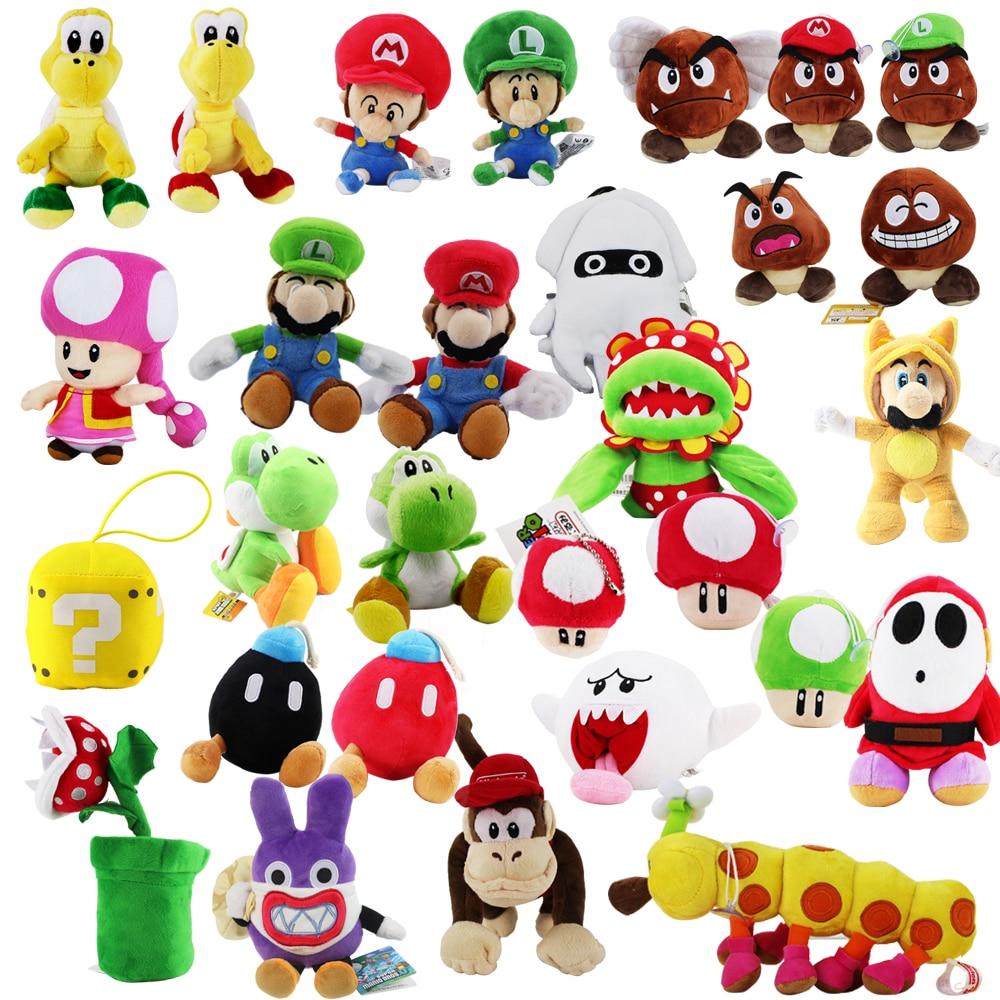Super Mario Yoshi Goomba Shy Guy Toadette Diddy Kong Bomb Piranha Mushroom Nabbit Koopa Turtle Caterpillar Octopus Plush Toys