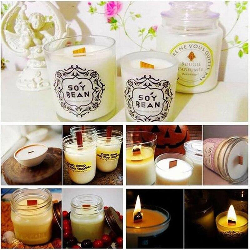 12,5mm 75mm 130mm Holz Kerzen Docht Mit Erhalter Tab Kerze Docht Core Für DIY Kerze Machen Versorgung soja Parffin Wachs 20Pcs