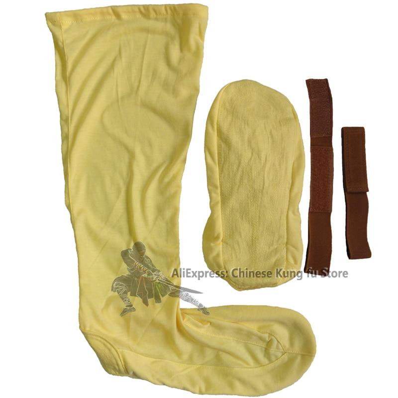 Желтый Хлопок Шаолинь Буддийский Монах Носки Обучение Обувь для Ушу Кунг-фу боевые искусства Тай-чи Обувь