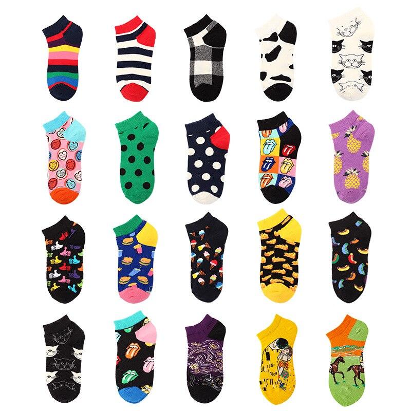 Мужские и женские короткие носки летние тонкие Ins натуральный хлопок дышащие хлопковые носки низкие носки без пятки
