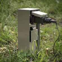 Outdoor Socket Weatherproof Waterproof Power Socket 3680W 16A Double EU FR Socket for Garden décor Lawn Mower Hedge Trimmer