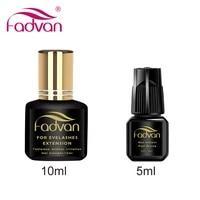 fadvan 5ml10ml lash glue false eyelashes glue fast dry no odor no simulation fake lashes building black glue