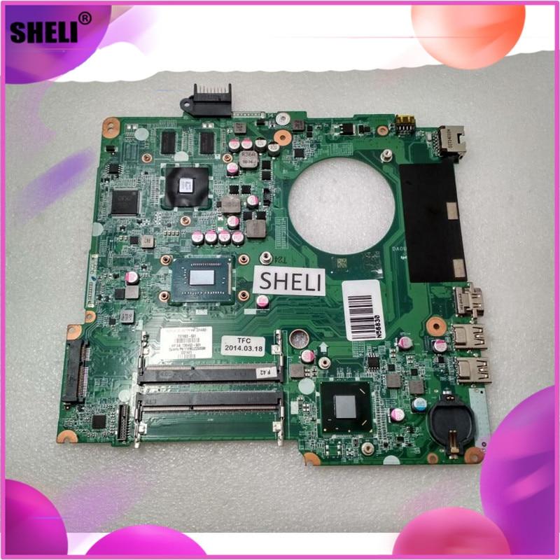 737983-001 737983-501 para hp 15-n placa-mãe do portátil com 2117u cpu da0u81mb6c0 testado e garantido em boas condições de trabalho