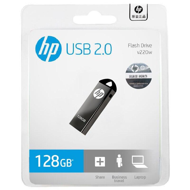 HP Original 64GB 32GB 16GB 8GB USB3.0 Pendrive USB Flash Drive memoria Stick Metal U disco V220W para computadora