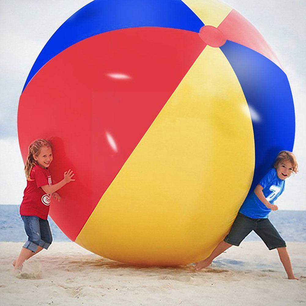 bola de praia inflavel grande tres cor pvc inflavel engrossado entretenimento decoracao