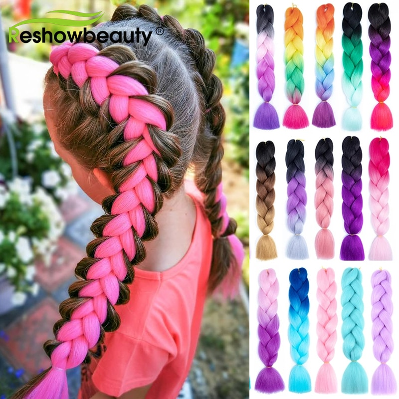 Jumbo Braid Hair Expression For Crochet Box Braids Synthetic Hair Extension Wholesale Pre Stretched Yaki Kanekalon Ombre Colored