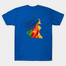 Carte du drapeau camerounais fierté nationale en T-Shirt homme camerounais. T-shirt unisexe à manches courtes en coton dété nouveau S-3XL