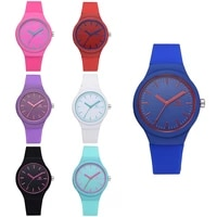 womens fashion sports silicone quartz watch simple scale jelly color full silicone female student trendy womens watch