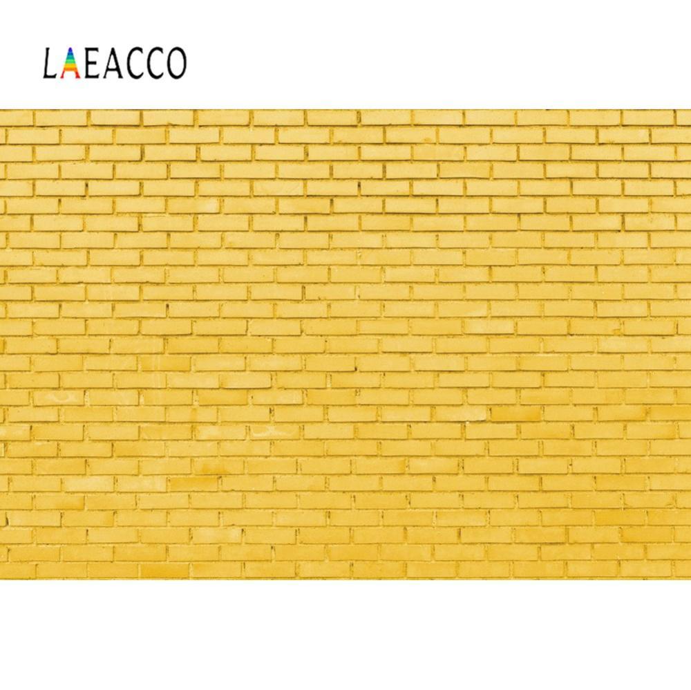 Laeacco желтый цвет кирпичная стена любовь новорожденный портрет фото фоны для фотографии фон для фотостудии фотосессия