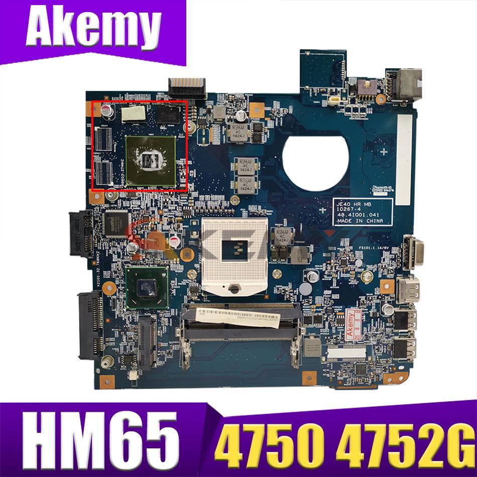 AKEMY JE40 HR MB 10267-4 48.4IQ01.041 لشركة أيسر أسباير 4750 4752G اللوحة الأم HM65 Nvidia 540