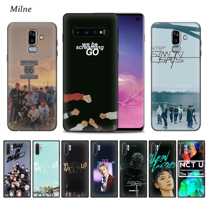 NCT 127 Kpop caso para Samsung Galaxy S10 5G S10e S9 S8 S7 Nota 8 9 10 Plus J4 J6 J8 2018 negro suave del teléfono de la cubierta de Tampa
