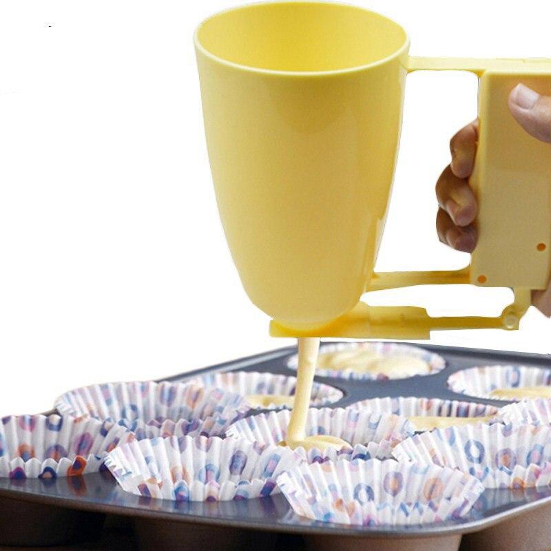 Kunststoff Handheld Batter Dispenser Griff Kuchen, Der Tasse Gebäck Frikadelle Mould Maker Donut Werkzeug Küche Dessert Gadget AKC6445