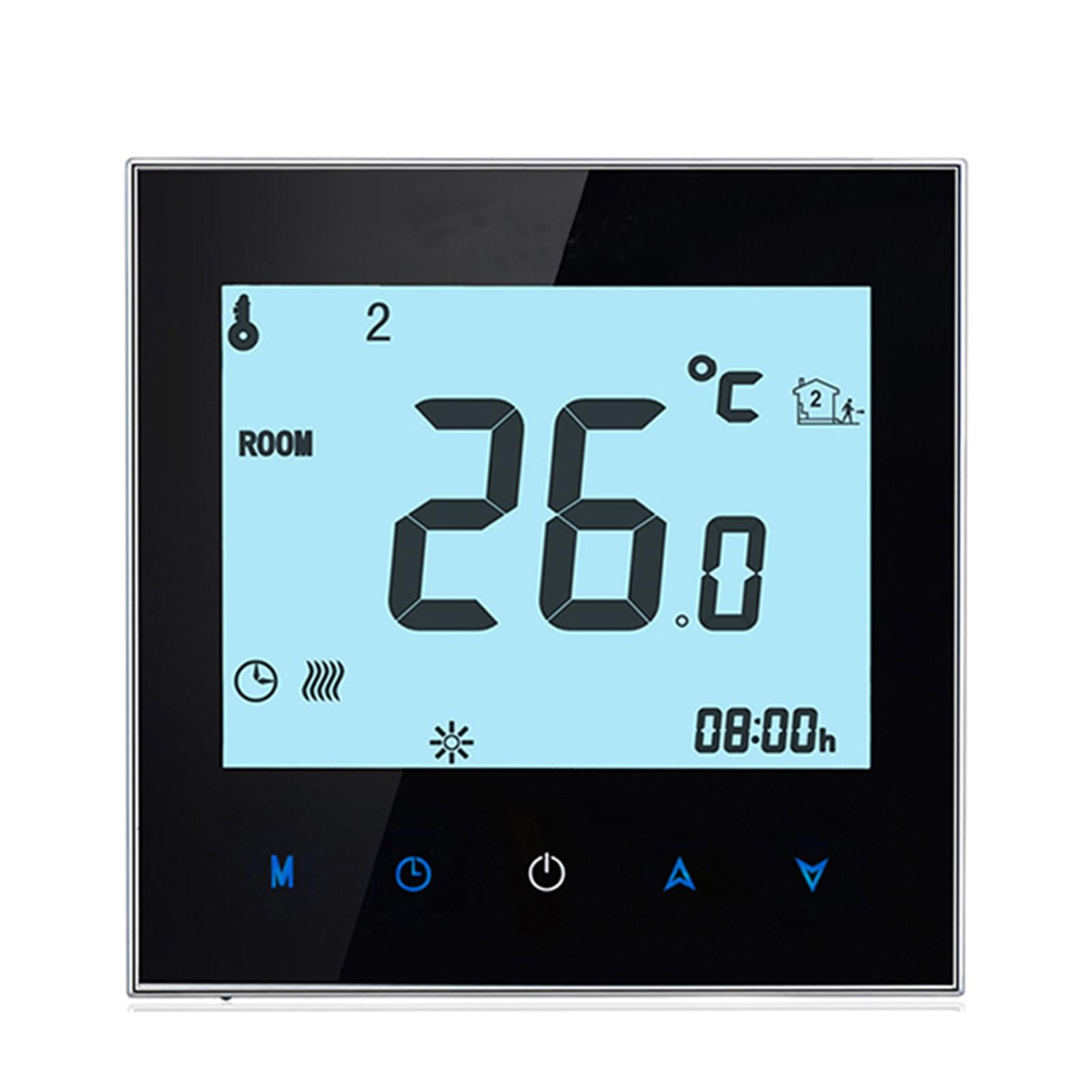 ترموستات منزلي قابل للبرمجة مع واي فاي للمياه والغاز ، ترموستات ذكي بشاشة تعمل باللمس مع تطبيق وتحكم صوتي
