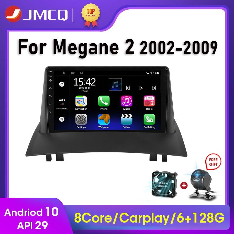Фото - Автомагнитола JMCQ, 2 Din, Android 10, для Renault Megane 2 2002-2009, мультимедийный видеопроигрыватель с сенсорным экраном, GPS, RDS, DVD автомагнитола jmcq 2 din android 10 для renault megane 2 2002 2009 мультимедийный видеопроигрыватель с сенсорным экраном gps rds dvd