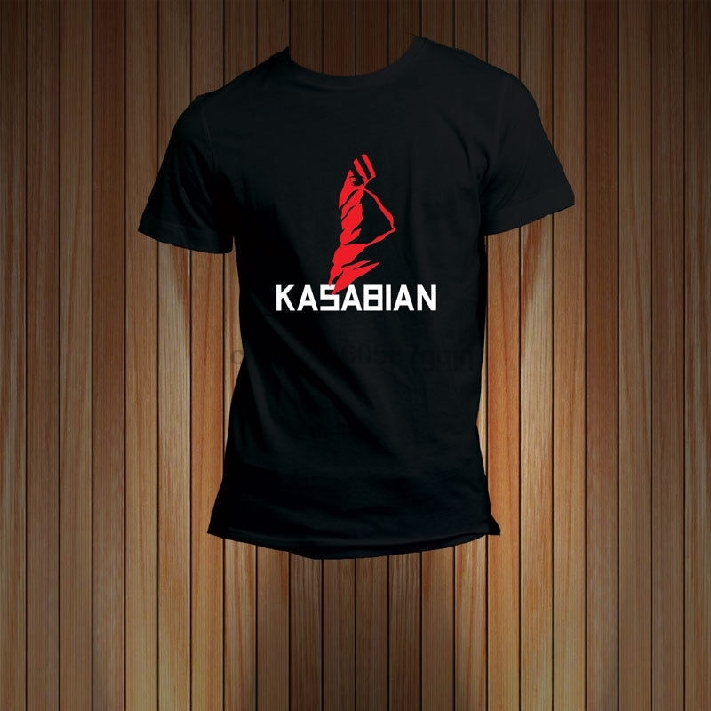 KASABIAN Logo English Rock Band T-Shirt TeeFashion Summer Top TeePrint T shirt Men