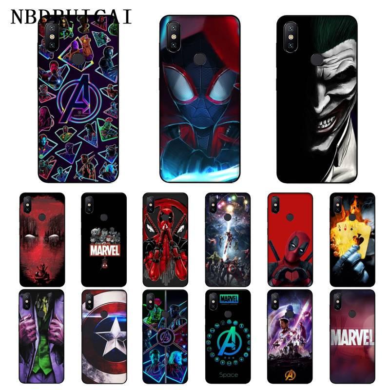 NBDRUICAI Marvel Avengers Jorker Dead Pool Soft Silicone Phone Case for Xiaomi 8 9 se 5X Redmi 6pro 6A 4X 7 5plus note 5 7 6pro
