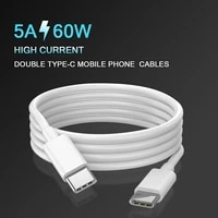 60w usb c to usb c cable usbc pd fast charger cord usb c 5a type c cable for macbook imac pro huawei xiaomi sansung meizu
