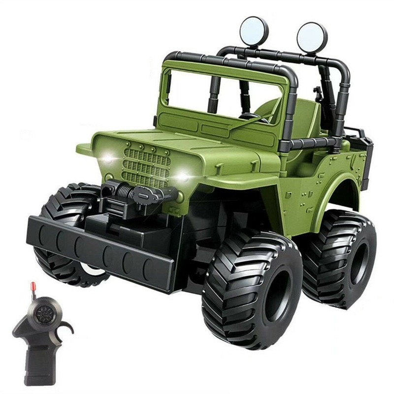 1/36 2.4G 4CH Mini Remote Control Car for JEEP LED Light Off-road Vehicle Without Battery