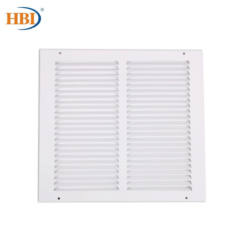 Решетки для вентиляции HBI W12 x H12, стальные, с отделкой под давлением, зеркальные, потолочные, с системой вентиляции