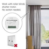 Tuya Smart Life WiFi Curtain Switch Module 500W for Rolling Shutter Google Home Alexa Voice Control App Timer DIY LoraTap