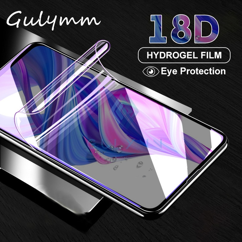 Película protectora suave de hidrogel para Huawei Honor 9X 20 10 Lite V30 Mate 30 20 Pro Nova 5 5i 5T 6, Protector de pantalla contra luz azul