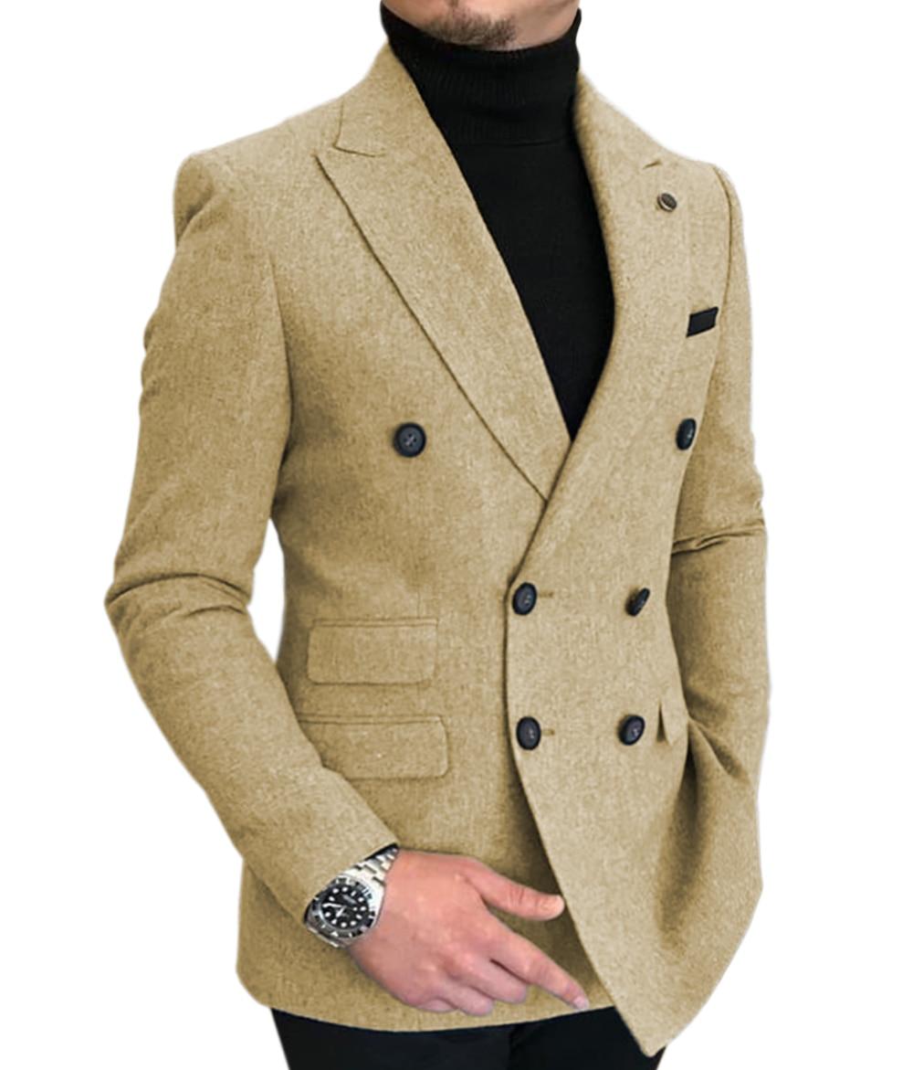 Деловые мужские шерстяные костюмы деловая куртка смокинги для выпускного вечера