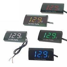 Affichage Mini LED voltmètre numérique panneau Volt tension mètre testeur protection de connexion inverse 12V pour voiture moto chaude