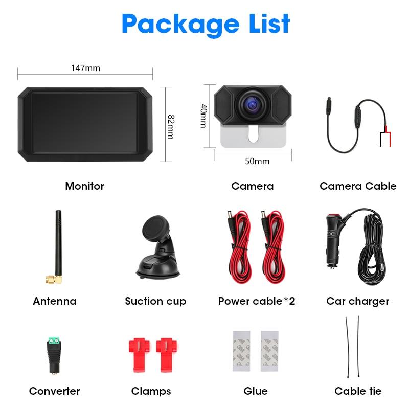 Купить с кэшбэком Jansite 5 inch Car Monitor 1080P Wireless Backup Camera Reverse Rear View Camera Auto Parking Assistance Digital signal Color