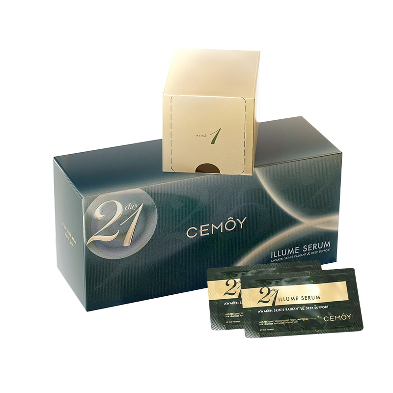 Original Cemoy 21 Day Illume Serum 2ml*21Pack Healthy Skin Care Essence Repair Daytime Damage Awaken Face Support Skin's Radiant