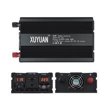 XUYUAN falownik domowy 12V-220V 600W transformator napięcia cyfrowa czysta fala sinusoidalna przetwornica napięcia z klimatyzacją