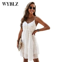 sexy summer camisole dresses for women spaghetti white fashion v neck sleeveless dress above knee outfits solid women clothing