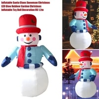 1 2m inflatable santa claus snowman christmas led glow outdoor garden christmas inflatable toy doll decoration