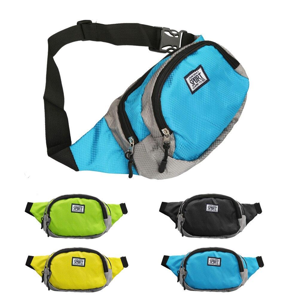 Riñonera para correr Unisex, práctica bolsa de viaje para deporte de senderismo, riñonera, riñonera, bolsa con cremallera, bolsa para correr