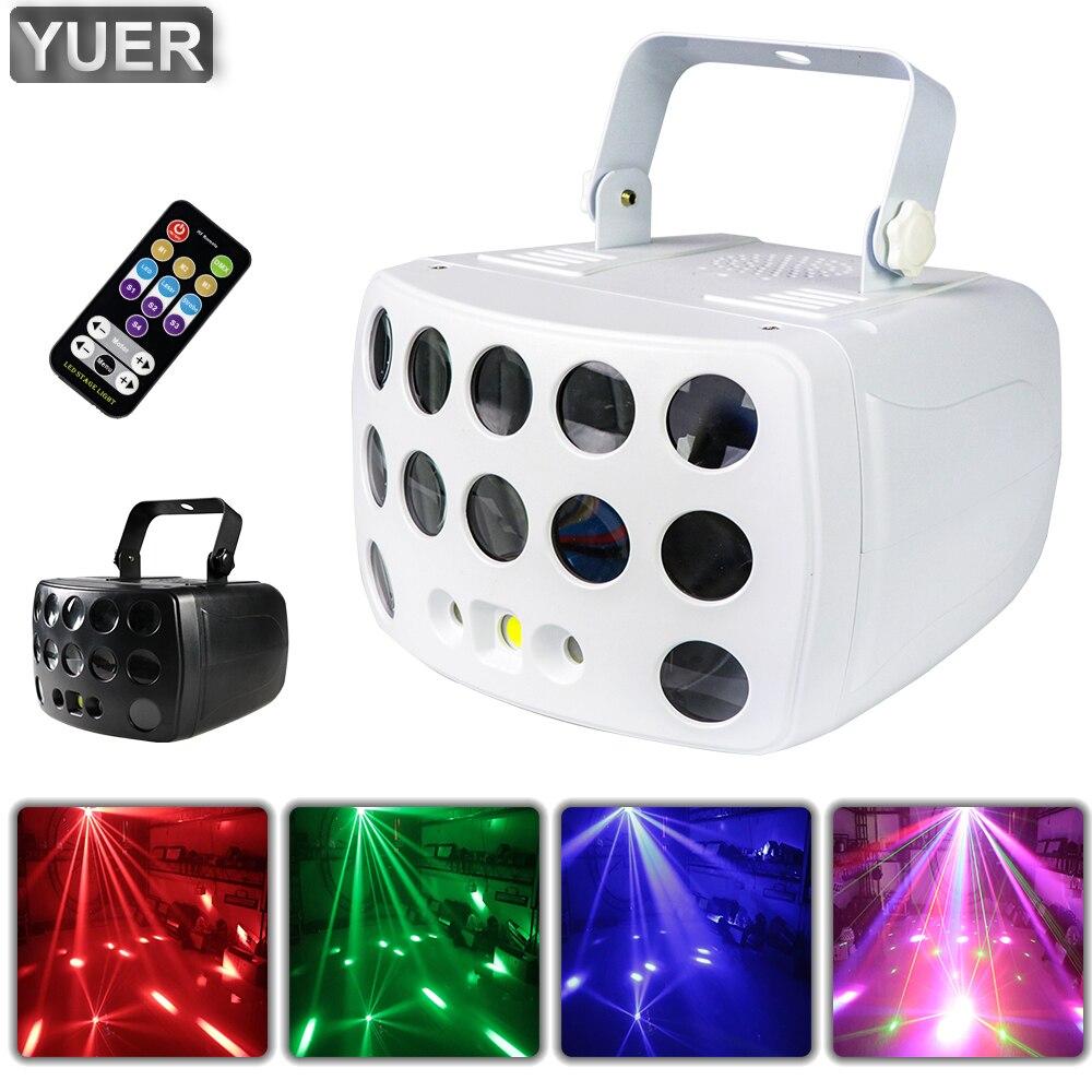 RGBW 4IN1 LED فراشة أضواء DMX512 ليزر مسرح السماء المرصعة بالنجوم تأثير العارض مع جهاز التحكم عن بعد ل ديسكو DJ حفلة موسيقية بار